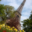 Stock Photo: Eiffel Tower with flowers, Paris