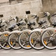 Stock Photo: Paris - bicycles for hire
