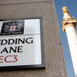 Stock Photo: Pudding Lane and Monument, London
