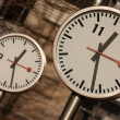 Canary Wharf Clocks — Stock Photo