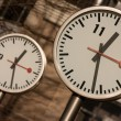 Canary Wharf Clocks - Stock Photo