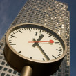 Canary Wharf Clock - Stock Photo