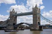 Tower Bridge, Open — Stock Photo