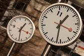 Canary Wharf Clocks — Stock Photo