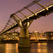 Millennium Bridge, London, UK - Stock Photo
