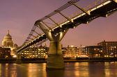 Millennium Bridge, London, UK — Stock Photo
