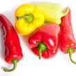 Various colored peppers — Stockfoto