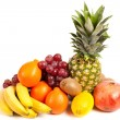 Pile of delicious tropical fruits — Stock Photo
