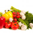 Bunch of fresh vegetables - Stock Photo