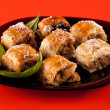 Baklava, traditional turkish dessert - Stockfoto