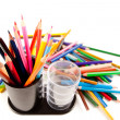 Many colored pencils - Stock Photo