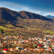 Town between mountains — Stock Photo