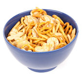 Crackers and pretzels — Stock Photo