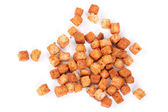 Delicious croutons isolated — Stock Photo