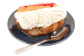 Whipped cream dessert — Stock Photo