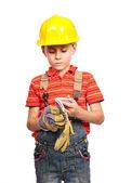 Little construction worker — Stock Photo
