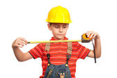 Little construction worker — Stock Photo