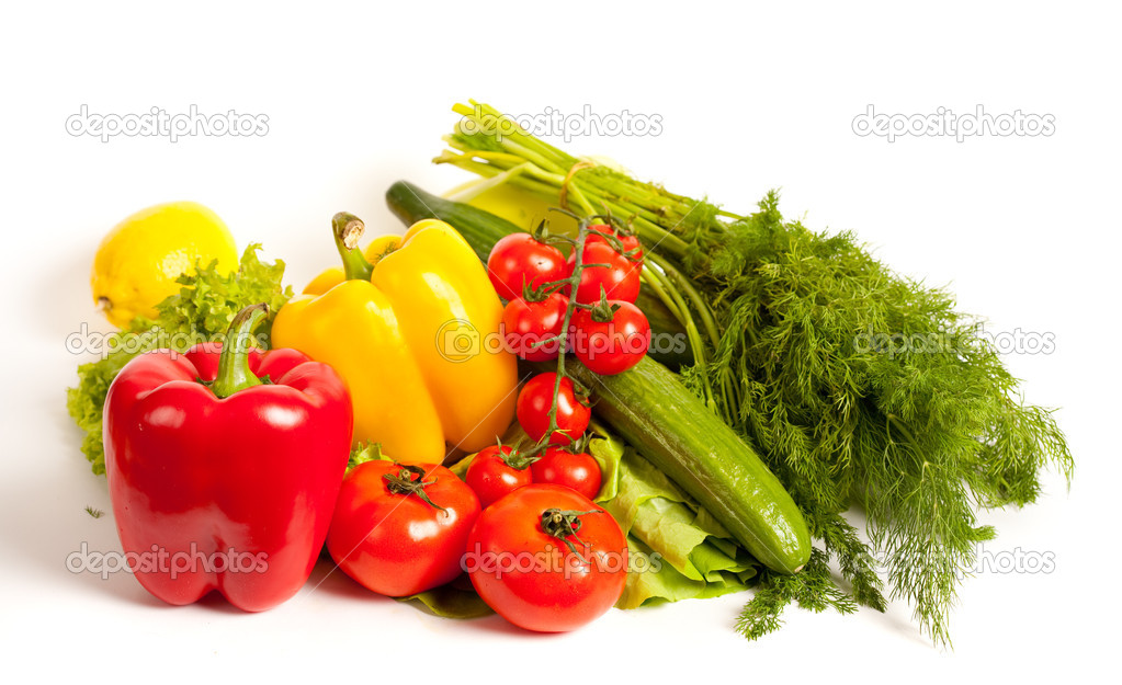 Bunch of vegetables isolated on white background — Stock Photo #2007204
