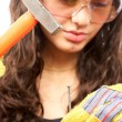 Latino construction lady — Stock Photo #2011833