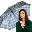 Young woman with umbrella — Foto de Stock