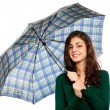 Young woman with umbrella — Stockfoto