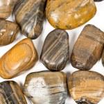 Zen stones isolated on white — Stock Photo