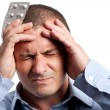Stock Photo: Businessmwith headache