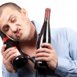 Stock Photo: Funny drunk businessman