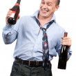 Funny drunk businessman — Stock Photo #2012854