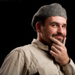 Young man with hat — Stock Photo