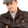 Trendy young man with hat — Stock Photo
