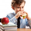 Royalty-Free Stock Photo: Schoolboy during lunch break