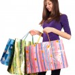 Young lady with bags — Stock fotografie