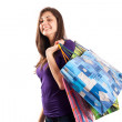 Young lady with bags — Stock Photo #2204736