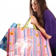 Young lady with bags — Stock Photo #2204741