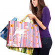 Young lady with bags — Foto Stock