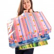 Young lady with bags — Stock Photo #2204780