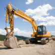 Stock Photo: Excavator, digger, earthmover
