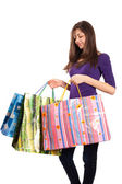 Young lady with bags — Stock Photo