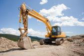 Excavator, digger, earthmover — Stock Photo
