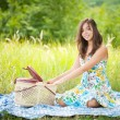 Beautiful woman at picnic — Stock Photo #2210498