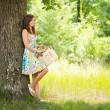 Beautiful woman at picnic — Stock Photo #2210568