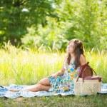 Beautiful woman at picnic — Stock Photo #2210598