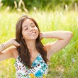Pretty lady outdoor — Stock Photo
