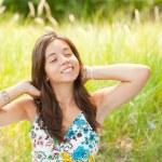 Pretty lady outdoor — Stock Photo