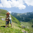 Mother and son outdoors - Foto Stock