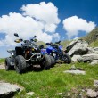 All terrain vehicles offroad — Stockfoto