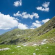 Landscape in Fagaras mountains, Romania - Stock Photo