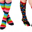 Legs with colorful stockings — Stock Photo #2212339