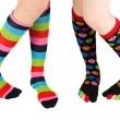 Legs with colorful stockings — Stock Photo #2212392